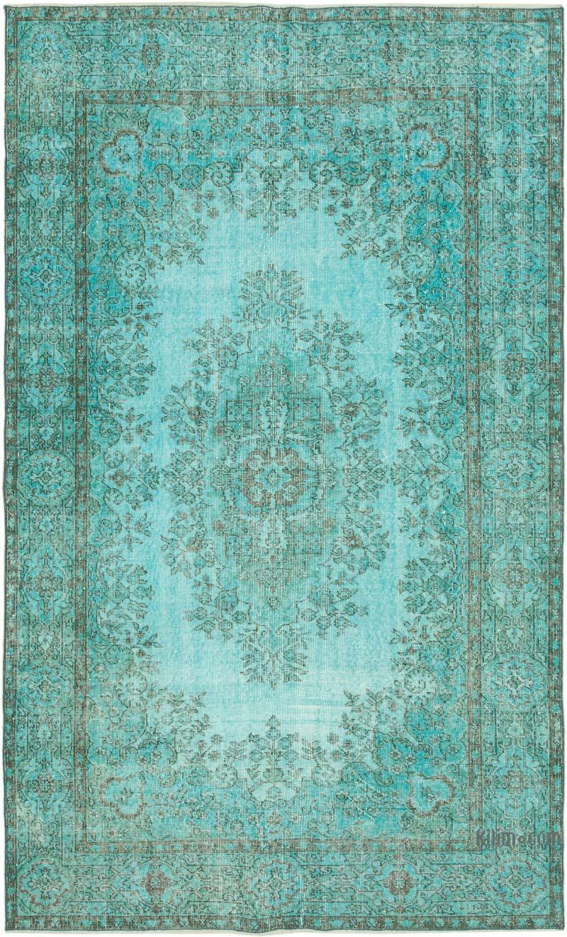 """Over-dyed Vintage Hand-Knotted Turkish Rug - 5' 8"""" x 9' 1"""" (68 in. x 109 in.) - K0049430"""