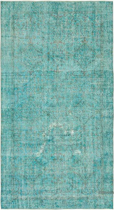 """Over-dyed Vintage Hand-knotted Turkish Rug - 5' 4"""" x 9' 8"""" (64 in. x 116 in.)"""
