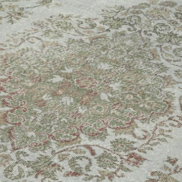 Grey Over-dyed Vintage Hand-knotted Turkish Rug - 5' 5# x 10' 5# (65 in. x 125 in.) - K0049438