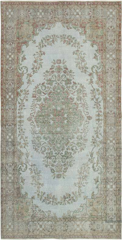 "Over-dyed Vintage Hand-knotted Turkish Rug - 5' 5"" x 10' 5"" (65 in. x 125 in.)"