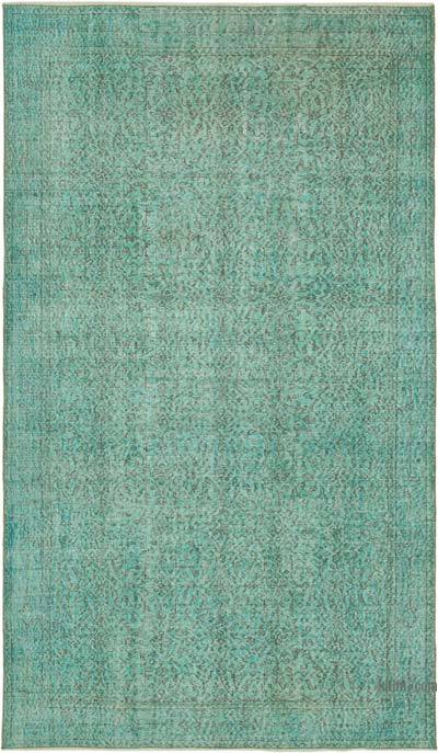 """Over-dyed Vintage Hand-knotted Turkish Rug - 5' 5"""" x 9' 2"""" (65 in. x 110 in.)"""