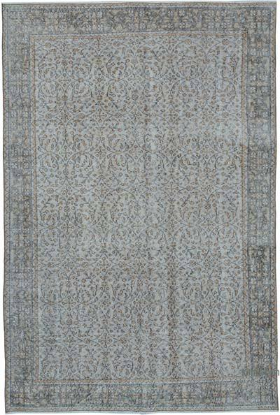 """Over-dyed Vintage Hand-knotted Turkish Rug - 5' 5"""" x 8' 3"""" (65 in. x 99 in.)"""