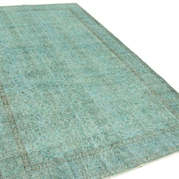 """Over-dyed Vintage Hand-Knotted Turkish Rug - 5' 9"""" x 9' 7"""" (69 in. x 115 in.) - K0049442"""