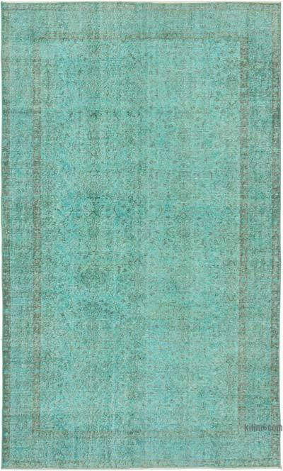 """Over-dyed Vintage Hand-Knotted Turkish Rug - 5' 9"""" x 9' 7"""" (69 in. x 115 in.)"""