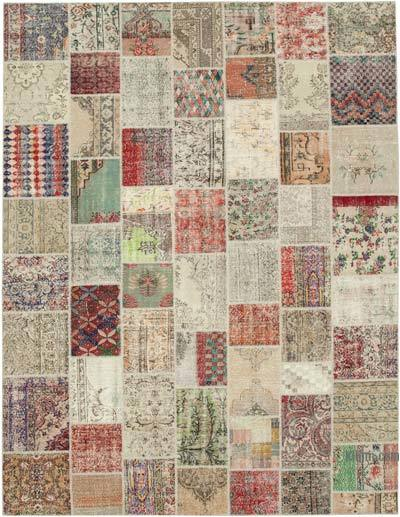 """Hand-knotted Turkish Patchwork Rug - 10'  x 13' 3"""" (120 in. x 159 in.)"""