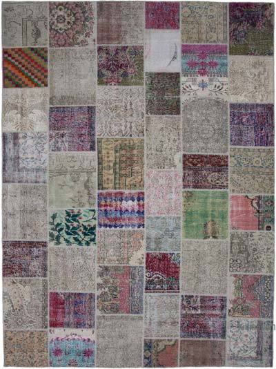 "Hand-knotted Turkish Patchwork Rug - 9' 11"" x 13' 5"" (119 in. x 161 in.)"