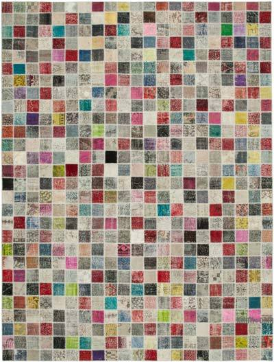 """Hand-knotted Turkish Patchwork Rug - 9' 10"""" x 13' 1"""" (118 in. x 157 in.)"""