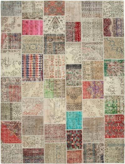 """Hand-knotted Turkish Patchwork Rug - 9' 11"""" x 13' 3"""" (119 in. x 159 in.)"""