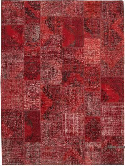 "Hand-knotted Turkish Patchwork Rug - 9' 10"" x 13' 5"" (118 in. x 161 in.)"