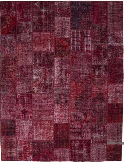 """Patchwork Hand-Knotted Turkish Rug - 10'  x 13' 1"""" (120 in. x 157 in.)"""