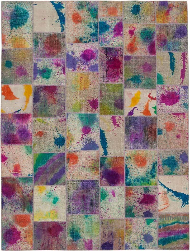 Boyalı Patchwork Halı - 300 cm x 406 cm - K0049457