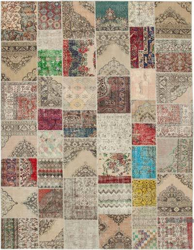 "Hand-knotted Turkish Patchwork Rug - 10'  x 13' 2"" (120 in. x 158 in.)"