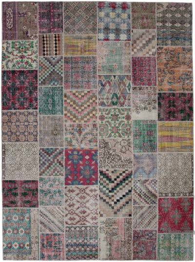 """Hand-knotted Turkish Patchwork Rug - 10'  x 13' 5"""" (120 in. x 161 in.)"""