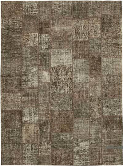 "Hand-knotted Turkish Patchwork Rug - 9' 9"" x 13' 3"" (117 in. x 159 in.)"