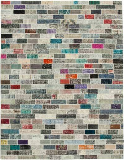 "Hand-knotted Turkish Patchwork Rug - 9' 11"" x 12' 10"" (119 in. x 154 in.)"