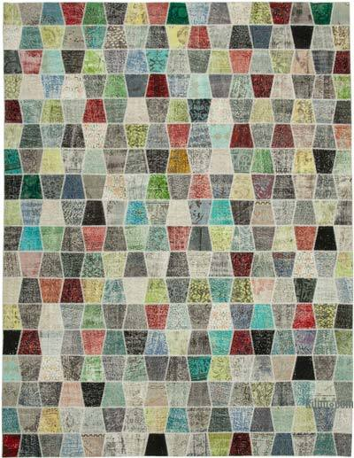 "Hand-knotted Turkish Patchwork Rug - 10' 1"" x 13' 2"" (121 in. x 158 in.)"