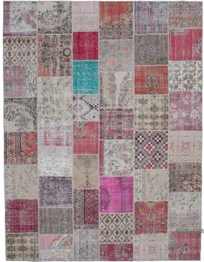 "Hand-knotted Turkish Patchwork Rug - 10'  x 13' 3"" (120 in. x 159 in.)"