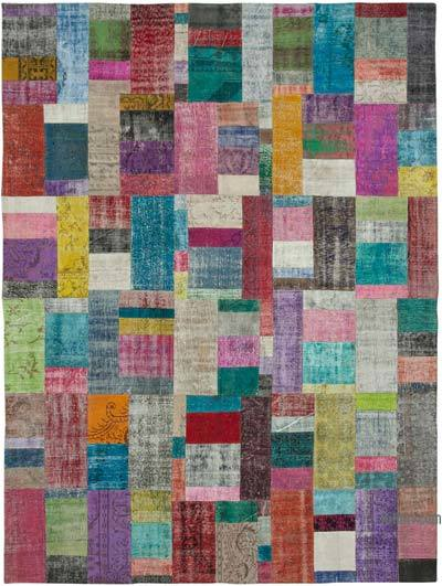 "Patchwork Hand-Knotted Turkish Rug - 9' 11"" x 13' 5"" (119 in. x 161 in.)"