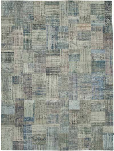 """Hand-knotted Turkish Patchwork Rug - 9' 11"""" x 13' 6"""" (119 in. x 162 in.)"""