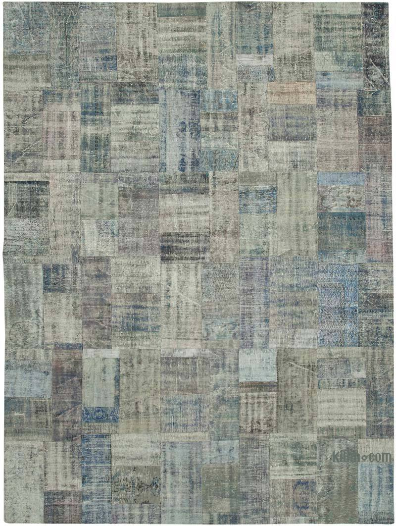 """Patchwork Hand-Knotted Turkish Rug - 9' 11"""" x 13' 6"""" (119 in. x 162 in.) - K0049504"""