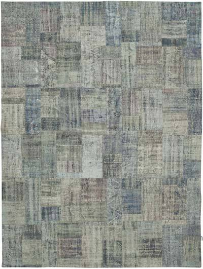 "Hand-knotted Turkish Patchwork Rug - 9' 11"" x 13' 6"" (119 in. x 162 in.)"