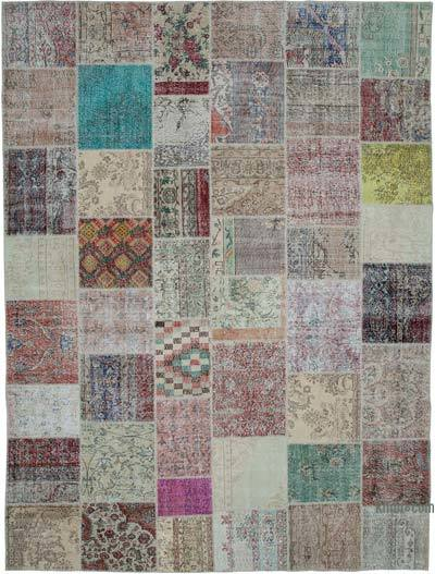 "Hand-knotted Turkish Patchwork Rug - 9' 11"" x 13' 1"" (119 in. x 157 in.)"