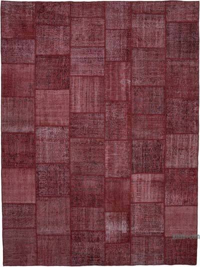 "Hand-knotted Turkish Patchwork Rug - 10'  x 13' 4"" (120 in. x 160 in.)"