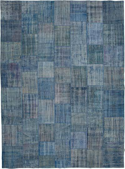 """Hand-knotted Turkish Patchwork Rug - 9' 8"""" x 13' 1"""" (116 in. x 157 in.)"""