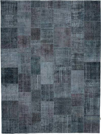 """Hand-knotted Turkish Patchwork Rug - 9' 7"""" x 13' 1"""" (115 in. x 157 in.)"""