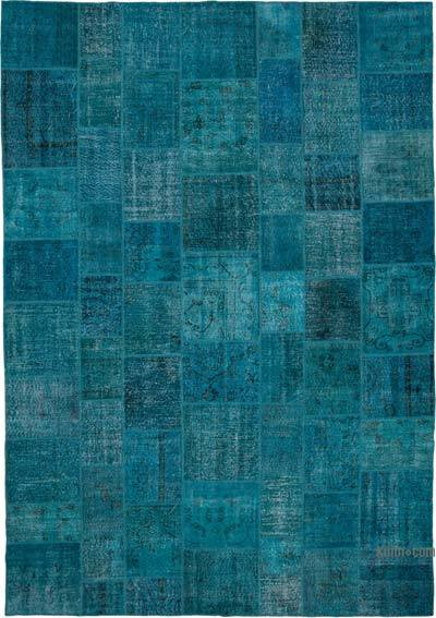 """Hand-knotted Turkish Patchwork Rug - 9' 10"""" x 14' 1"""" (118 in. x 169 in.)"""