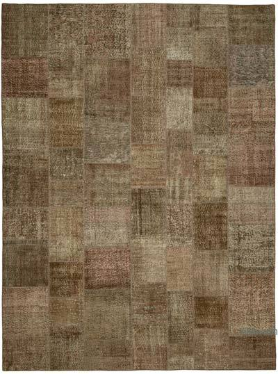 """Hand-knotted Turkish Patchwork Rug - 9' 9"""" x 13' 1"""" (117 in. x 157 in.)"""