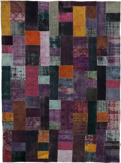 "Hand-knotted Turkish Patchwork Rug - 9' 7"" x 13' 3"" (115 in. x 159 in.)"
