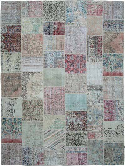 """Patchwork Hand-Knotted Turkish Rug - 9' 10"""" x 13' 3"""" (118 in. x 159 in.)"""