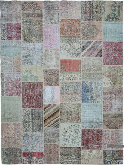 "Patchwork Hand-Knotted Turkish Rug - 9' 10"" x 13' 3"" (118 in. x 159 in.)"