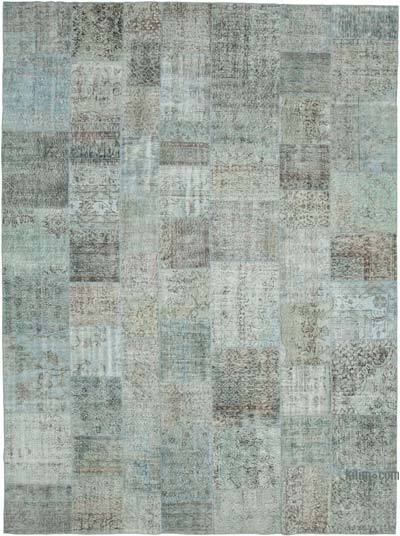 "Hand-knotted Turkish Patchwork Rug - 9' 10"" x 13' 2"" (118 in. x 158 in.)"