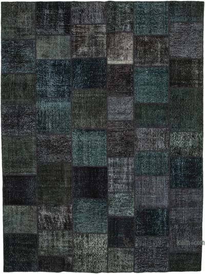 """Hand-knotted Turkish Patchwork Rug - 10' 1"""" x 13' 5"""" (121 in. x 161 in.)"""