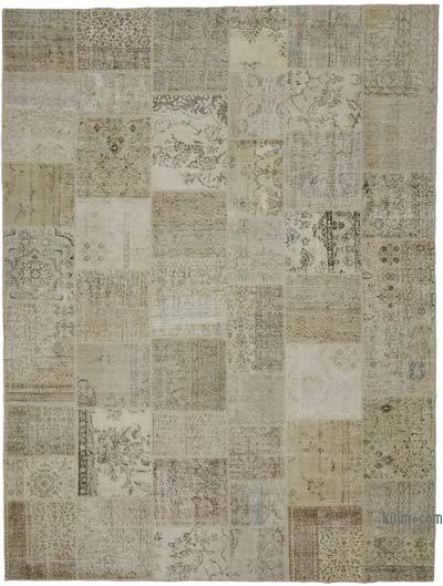 """Hand-knotted Turkish Patchwork Rug - 9' 11"""" x 13' 1"""" (119 in. x 157 in.)"""