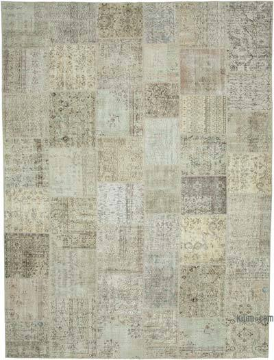 "Hand-knotted Turkish Patchwork Rug - 9' 11"" x 13' 3"" (119 in. x 159 in.)"