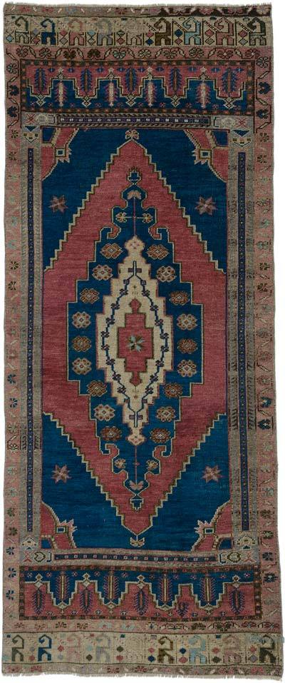 """Turkish Vintage Area Rug - 3' 8"""" x 8' 6"""" (44 in. x 102 in.)"""