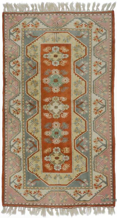 "Turkish Vintage Area Rug - 4' 1"" x 7' 1"" (49 in. x 85 in.)"