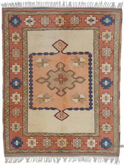 "Turkish Vintage Area Rug - 5' 9"" x 7' 3"" (69 in. x 87 in.)"
