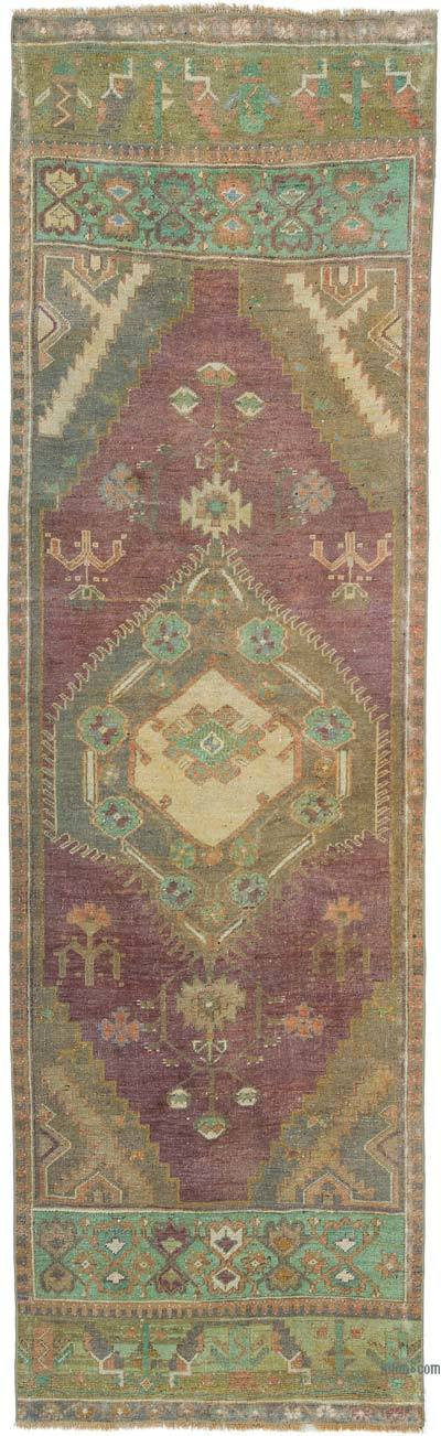 "Vintage Turkish Runner Rug - 2' 9"" x 9' 1"" (33 in. x 109 in.)"
