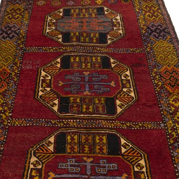 """Vintage Turkish Hand-Knotted Rug - 3' 11"""" x 8' 8"""" (47 in. x 104 in.) - K0049561"""