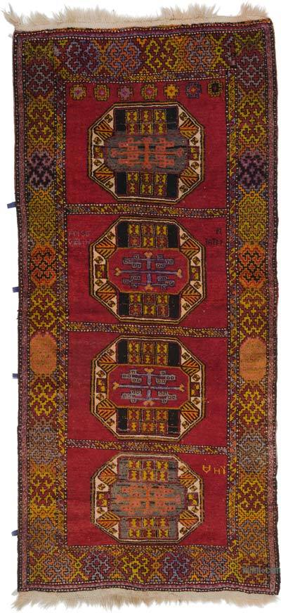 "Turkish Vintage Area Rug - 3' 11"" x 8' 8"" (47 in. x 104 in.)"