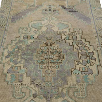 """Vintage Turkish Hand-Knotted Rug - 3' 5"""" x 7' 5"""" (41 in. x 89 in.) - K0049562"""