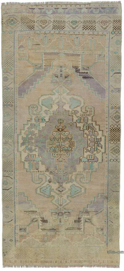 "Turkish Vintage Area Rug - 3' 5"" x 7' 5"" (41 in. x 89 in.)"
