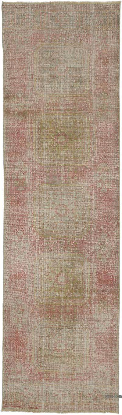 "Turkish Vintage Runner Rug - 3' 3"" x 11' 4"" (39 in. x 136 in.)"