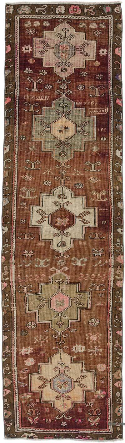 "Turkish Vintage Runner Rug - 3' 1"" x 10' 6"" (37 in. x 126 in.)"
