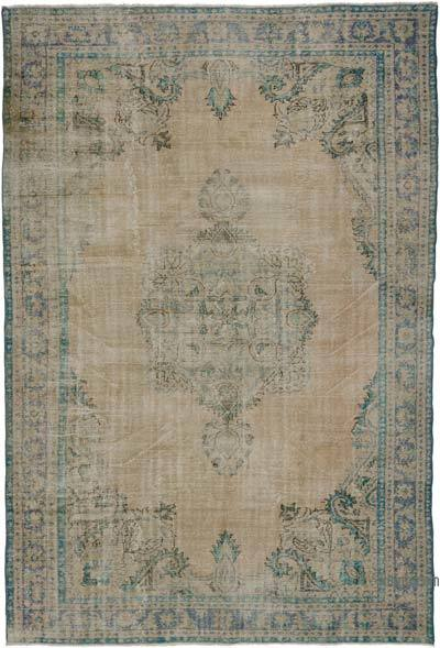 """Turkish Vintage Area Rug - 7' 9"""" x 11' 4"""" (93 in. x 136 in.)"""