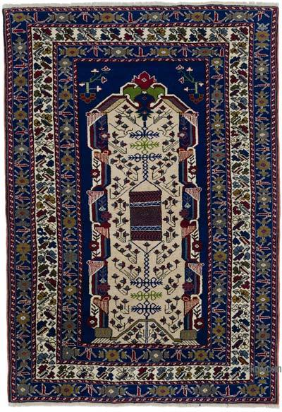 """Vintage Turkish Hand-Knotted Rug - 4' 8"""" x 6' 8"""" (56 in. x 80 in.)"""